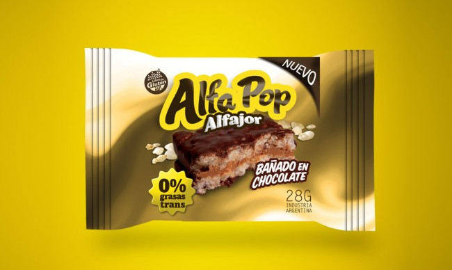 Diseño de pack Alfa POP Alafajor